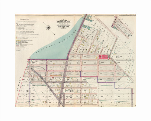 Part of Wards 29 & 30, Land Map Sections, Nos. 3, 16 & 17, Volume 2, Brooklyn Borough, New York City by Anonymous