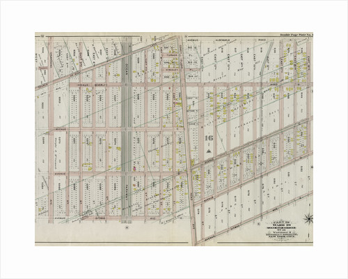 Part of Ward 29. Land Map Section, No. 16. Volume 2, Brooklyn Borough, New York City by Anonymous