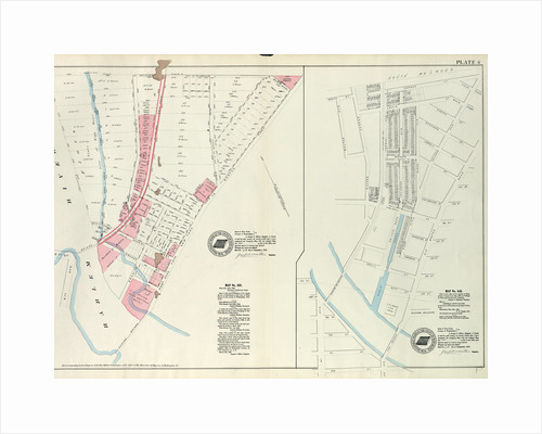 Map No. 302 Bounded by Harlem River, 149th Street and Post Road from New York to Boston.- Map No. 549 Bounded by Grove St., Cottage St., Villa Place, Old Boston Road, 130th Street, 4th Avenue, Macomb Avenue and Walton Avenue, New York by Anonymous