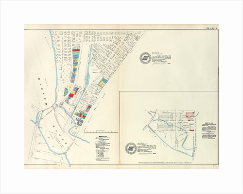 Map No. 375 Bounded by Fourth Avenue, Riverside Avenue, Macomb Avenue, Cottage Street, Morris Avenue, 3rd Avenue and 129th Street. - Map No. 213 Bounded by Cherry Street, Old Harlem Bridge Post Road from New York to Boston, Harlem River, New York by Anonymous