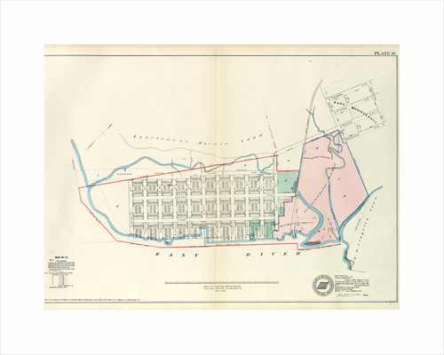 Map No. 17 Bounded by Third Avenue, First Street, East River and Eleventh Street, New York by Anonymous