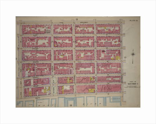 Bounded by East Broadway, Montgomery Street, East River South Street, Pike Slip and Pike Street, New York by Anonymous