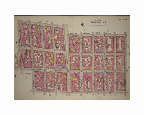 Bounded by Spring Street, Bowery Street, Delancey Street, Orchard Street, Hester Street, Mulberry Street, Grand Street, Centre Street and Marion Street, New York by Anonymous