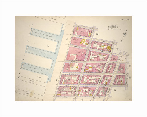 Bounded by Jane Street, Washington Street, W. 12th Street, Greenwich Street, Bethune Street, Hudson Street, Bank Street, Bleecker Street, Perry Street, Hudson Street, Charles Street and Hudson River Piers West Street, New York by Anonymous