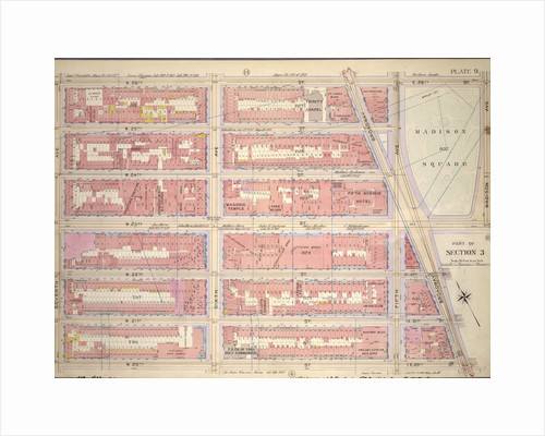 Bounded by W. 26th Street, E. 26th Street, Madison Avenue, W. 23rd Street, Broadway, E. 20th Street, W. 20th Street and Seventh Avenue, New York by Anonymous