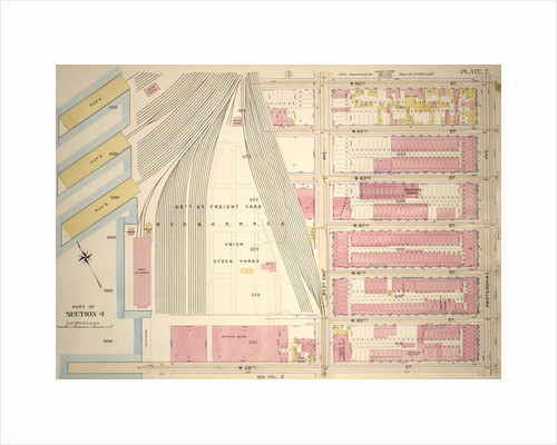 Bounded by W. 65th Street,Amsterdam Avenue, W. 59th Street and N.Y.C. & H.R.R.C.R. Union Stock Yards West End Avenue, New York by Anonymous
