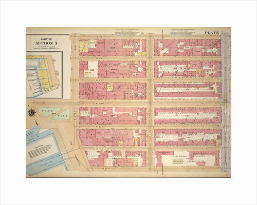 Bounded by W. 26th Street, Ninth Avenue Chelsea Square, W. 20th Street, 13th Street, W. 23rd Street and Eleventh Avenue, New York by Anonymous