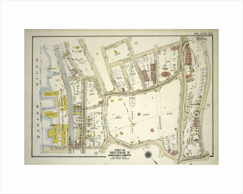 Borough of the Bronx. Bounded by W. 180th Street, Loring Place, W. 179th Street, Burnside Avenue, Harrison Avenue, W. Tremont Avenue and Harlem River Piers Cedar Avenue, New York by Anonymous
