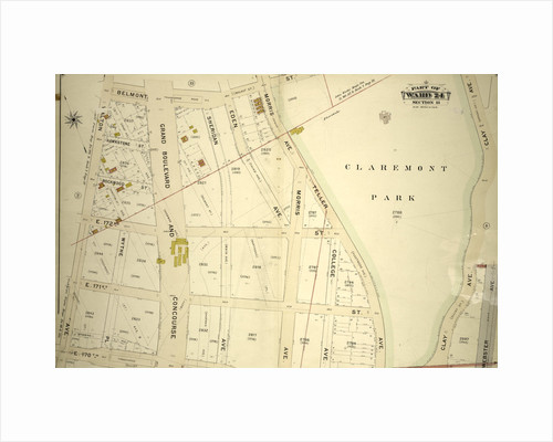 Part of Ward 24, Section 11. Bounded by Belmont Street, Clay Avenue, E. 170th Street and Walton Avenue, New York by Anonymous