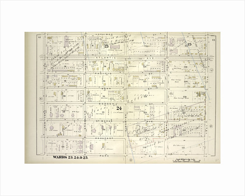 Map bound by Herkimer St., Troy Ave., Park Pl., New York Ave; Including Atlantic Ave., Atlantic Ave., Pacific St., Dean St., Bergen St., St. Marks Ave., Prospect Pl., Brooklyn Aver, Kingston Ave., Albany Ave., New York by Anonymous