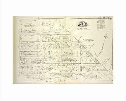 Map bound by Decatur St., Broadway, Ruxton St., Rockaway Ave., Herkimer St., Saratoga Ave; Including Bainbridge St., Chauncey St., Marion St., Sumpter St., Mc Dougall St., Hull St., Somers St., Fulton St., Hopkinson Ave., Stone Ave., New York by Anonymous