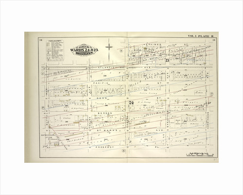 Map bound by Atlantic Ave., Herkimer St., Hopkinson Ave., Prospect Pl., Buffalo Ave; Including Pacific St., Dean St., Bergen St., St. Marks Ave., Ralph Ave., Howard Ave., Saratoga Ave., New York by Anonymous