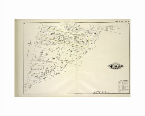 Map bound by Herkimer St., Rockaway Ave., Fulton St., Truxton St., City Line, Prospect Pl., Hopkinson Ave; Including Atlantic Ave., Pacific St., Dean St., Bergen St., St. Marks Ave., Ocean Pl., Cunther Pl., Pleasant Pl., Olive Pl., St., New York by Anonymous