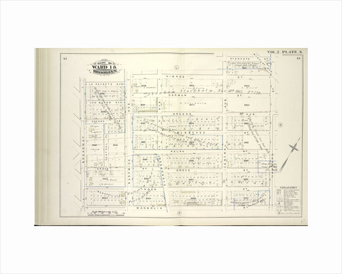 Map bound by La Fayette Ave., Himrod St., Stanhope St., Hamburg St., Magnolia St., Broadway; Including Van Buren Ave., Harman St., Greene Ave., Bleecker St., Ralph St., Grove St., Linden St., Central Pl., Bushwick Ave., Evergreen Ave., New York by Anonymous