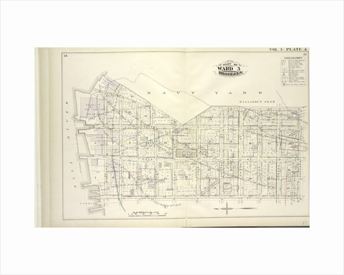 Map bound by U.S. Navy Yard, Concord St., Bridge St., East River; Including Little St., Navy St., Old Bridge RD, Hudson St., Greene Lane, Gold St., Charles St., Duffield St., U.S. St., Marshall St., John St., PLymouth St., Evans St., W., New York by Anonymous