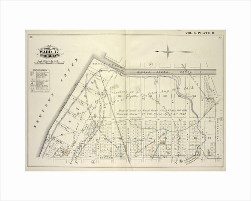 Map bound by Whale Creek Canal, Green Point Ave., Oakland St., Newtown Creek; Including Duck St., Brant St., Setauket St., Provost St., Ranton St., Pequod St., Shawnet St., Water St., Paidge Ave., Clay St., Dupont St., Eagle St., Freem., New York by Anonymous