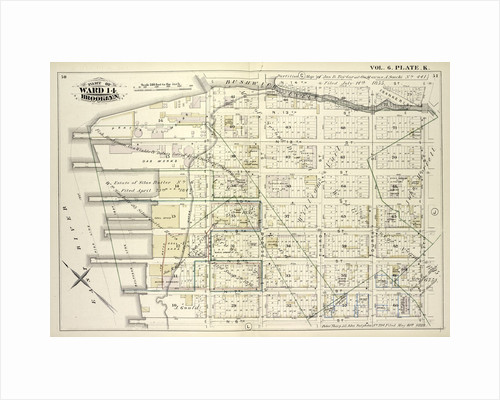 Map bound by Bushwick Inlet, N.14th St., Fifth St., N.6th St., East River; Including Banker St., N.13th St., N.12th St., N.11th St., N.10th St., N.9th St., N.8th St., N.7th St., First St., Second St., Third St., Fourth St., New York by Anonymous