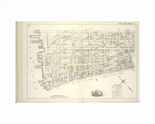 Map bound by N.6th St., Sixth St., Grand St., East River; Including N.5th St., N.4th St., N.3rd St., N.2nd St., Fillmore Pl., N.1St St., First St., Second St., Third St., Fourth St., Fifth St., New York by Anonymous