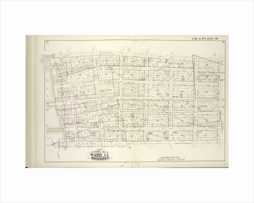 Map bound by Grand St., Seventh St., Broadway, S. Sixth St., East River; Including S. First St., S. Second St., S. Third St., S. Fourth St., S. Fifth St., River St., First St., Second St., Third St., Fourth St., Fifth St., Sixth St., New York by Anonymous
