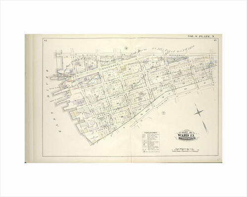 Map bound by S. Sixth St., Broadway, Seventh St., Division Ave., S. Eleventh St., East River; Including S. Eighth St., S. Ninth St., S. Tenth St., First St., Second St., Third St., Fourth St., Fifth St., Sixth St., New York by Anonymous