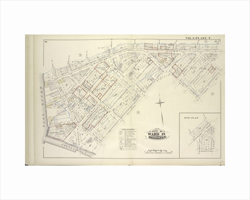 Map bound by First St., Second St., S.11th St., Third St., S.10th St., Fourth St., 5th St., 6th St., 7th St., 8th St., 9th St., Rodney St., Marcy Ave., Keap St., Lee Ave., Wilson St., Canal, East River; Including Division Ave., Rush St., New York by Anonymous
