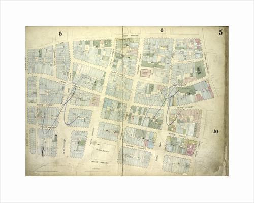 Map bounded by Gold Street, Frankfort Street, Dover Street, South Street, Maiden Lane; Including Riders Alley by Anonymous
