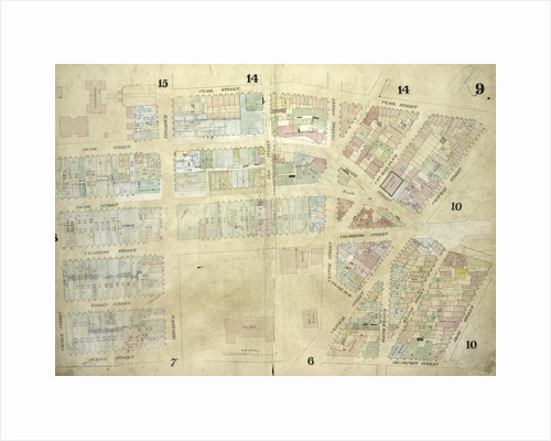 Map bounded by Pearl Street, Chatham Street, Chambers Street, Rose Street, Frankfort Street, Murray Street, Church Street; Including Duane Street, City - Hall Place, Reade Street, Warren Street, Broadway, Elm Street, Centre Street, New York by Anonymous