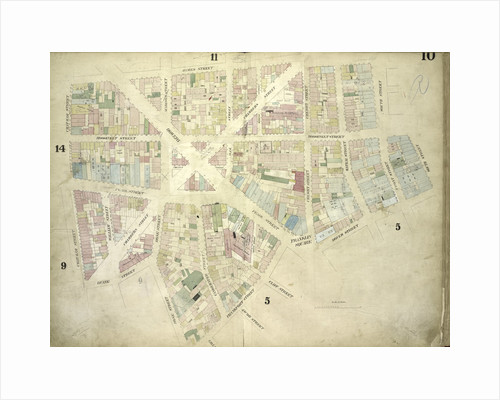 Map bounded by James Street, South Street, Dover Street, Rose Street, Duane Street, Chatham Street; Including Roosevelt Street, Chesnut Street, Pearl Street, Franklin Square, Bowery, Chambers Street, Cliff Street by Anonymous