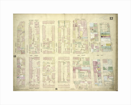 Map bounded by Rutgers Street, South Street, Market Street, Division Street; Including Pelham St, Pike Street, Pike Slip, Birmingham Street Mechanic's Street, East Broadway, Henry Street, Madison Street, Monroe Street, Cherry Street, New York by Anonymous