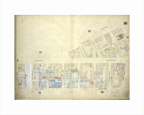 Map bounded by West Broadway, Varick Street, Laight Street, Canal Street, Church Street by Anonymous