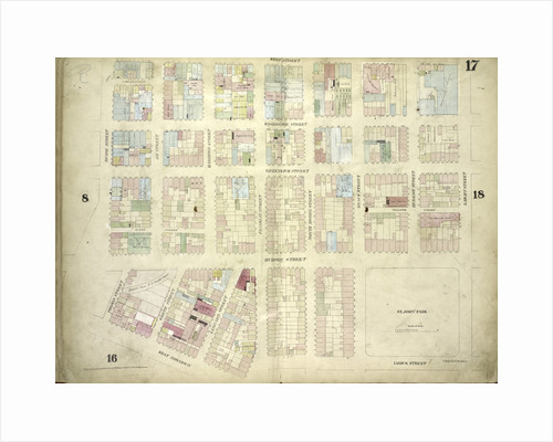 Map bounded by West Street, Laight Street, Varick Street, West Broadway by Anonymous