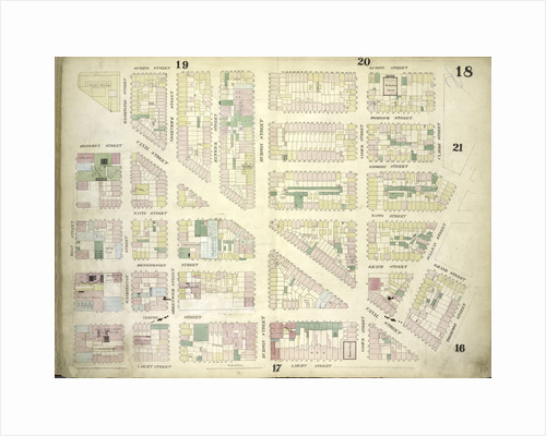 Map bounded by Spring Street, Clarke Street, Sullivan Street, Grand Street, Thompson Street, Laight Street, West Street; Including Canal Street, Dominick Street, Broome Street, Watts Street, Desbrosses Street, Grand Street, New York by Anonymous