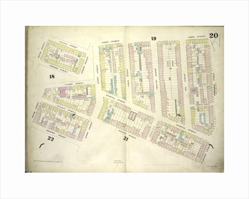 Map bounded by Sullivan Street, Varick Street, West Houston Street, Spring Street, Thompson Street, Broome Street, Grand Street; Including Clarke Street, MacDougal Street, Vandam Street, Charlton Street, King Street, New York by Anonymous