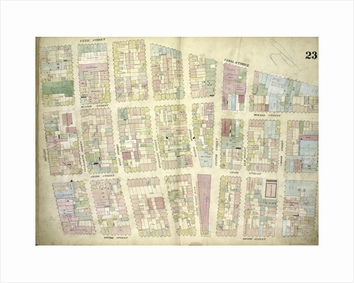 Map bounded by Canal Street, Broadway, Broome Street, Bowery; Including Hester Street, Howard Street, Grand Street, Elizabeth Street, Mott Street, Mulberry Street, Baxter Street, Centre Market Place, Centre Street, Elm Street, New York by Anonymous
