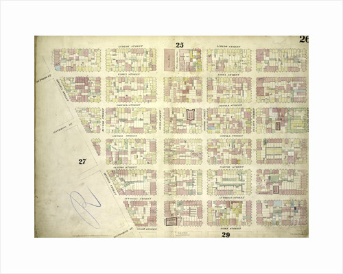 Map bounded by Ludlow Street, Rivington Street, Ridge Street, Division Street; Including Rutgers St, Essex Street, Norfolk Street, Jefferson St, Suffolk Street, Clinton Street, Attorney Street, Montgomery St, Grand Street, Broome, New York by Anonymous