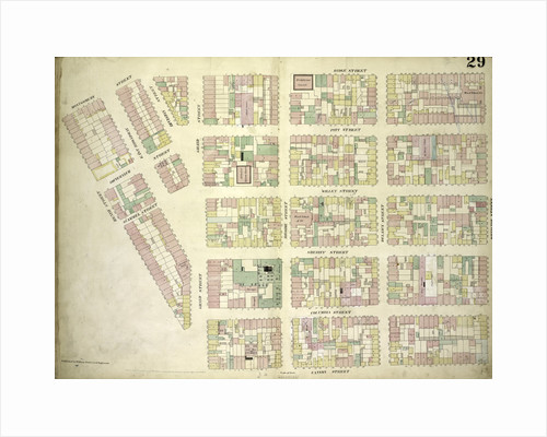 Map bounded by Montgomery Street, Ridge Street, Rivington Street, Cannon Street, Henry Street; Including Gouverneur Street, Pitt Street, Scammel Street, Willet Street, Sheriff Street, Columbia Street, East Broadway, Division Str., New York by Anonymous