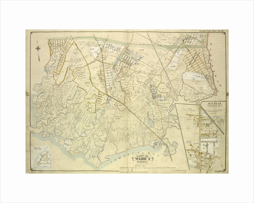 Map bounded by Conduit Long Island R.R., Boundary Line Of The City of New York; Including Hook Canal Creek, Jamaica Bay, Dead or Salt Creek; Sub Plan From Plate No. 17 Map, New York by Anonymous