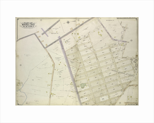 Map bounded by Flushing and Newtown Road; Including Junction Ave; Part of Ward Two Newtown; Old Bowery Road, Old Junction Ave., Flushing and Newtown Road, 12th St., Whitney Ave., 11th., New York by Anonymous