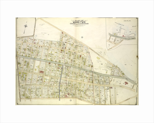 Map bounded by Bowery Road, Old Bowery Road, Flushing and Astoria Road, Jackson Ave., Coddington PL; Including Park Ave., Flushing and Newtown Turnpike, Lent., New York by Anonymous