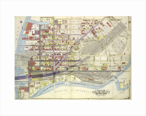 Map bounded by Pier St., River St., Front St., Newtown Creek; Part of Long Island City Ward One Part of Old Ward 1., New York by Anonymous