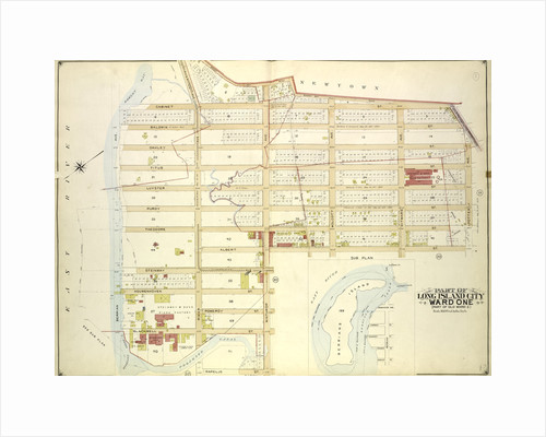 Map bounded by Old Bowery Bay Road, Flushing Ave., Potter Ave by Anonymous