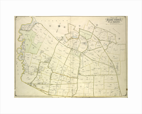 Map bounded by Strongs Causeway Ireland, Mill Road, North Hempstead Turnpike, Crop Road, Union Ave., Hoffman Ave., Boundary Line of Flushing, Jamaica, New York by Anonymous