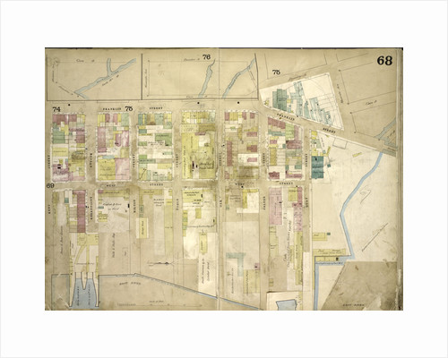 Map bounded by Meserole Ave., Gem St., Franklin St., North 15th St., East River, Kent St., Green Point Ave; Including Milton St., West St., Noble St., Oak St., Calyer St., Quay St., New York by Anonymous