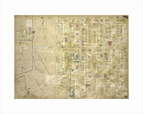 Map bounded by North 14th St., North 15th St., 5th St., Guernsey St., Lorimer St., Van Cott Ave., Oakland St., Newel St., Bancker St., Meserole Ave; Including Banker St., 2nd St., Norman Ave., New York by Anonymous