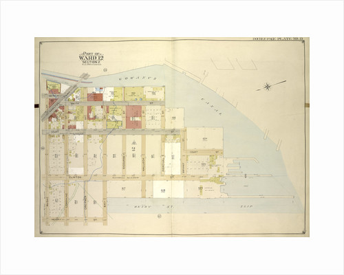 Map bounded by Gowanus Canal, Henry St., Bush St; IncludingCourt St., Hamilton Ave., Smith St., New York by Anonymous