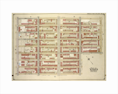 Map bounded by 44th St., 6th Ave., 49th St; Including 5th Ave., 42nd St., 2nd Ave., New York by Anonymous