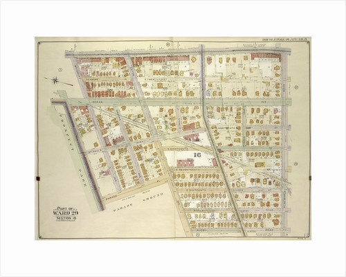 Map bounded by Flatbush Ave., Albemarle Road Avenue A, Rugby Road E. 14th St; Including Caton Ave. Johnson Ave., Parade Pl., Parkside Ave., Woodruff Ave., New York by Anonymous