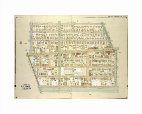 Map bounded by Argyle Road, Cortelyou Road, Ocean Parkway; Including Church Lane, Albemarle Road., New York by Anonymous