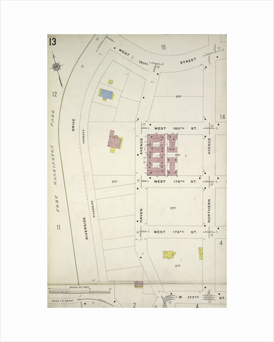 Map bounded by W. 181st St., Northern Ave., W. 177th St., Riverside Drive, New York by Anonymous