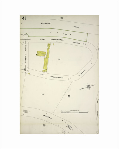 Map bounded by Riverside Drive, Broadway, Corbin Place, New York by Anonymous